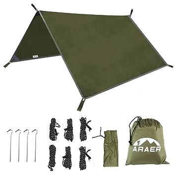 C&ing Tent Tarps ARAER Waterproof Rain Fly Tarps Ripstop Hammock Cover Rainfly Sunshade Shelter Blanket for  sc 1 st  Amazon.com & Amazon.com : Camping Tent Tarps ARAER Waterproof Rain Fly Tarps ...