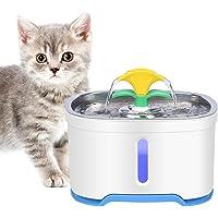 RIOGOO Husdjur katt vatten fontän rostfritt stål, 2,5 dl intelligent automatisk avstängningspump, katt vatten fontän…