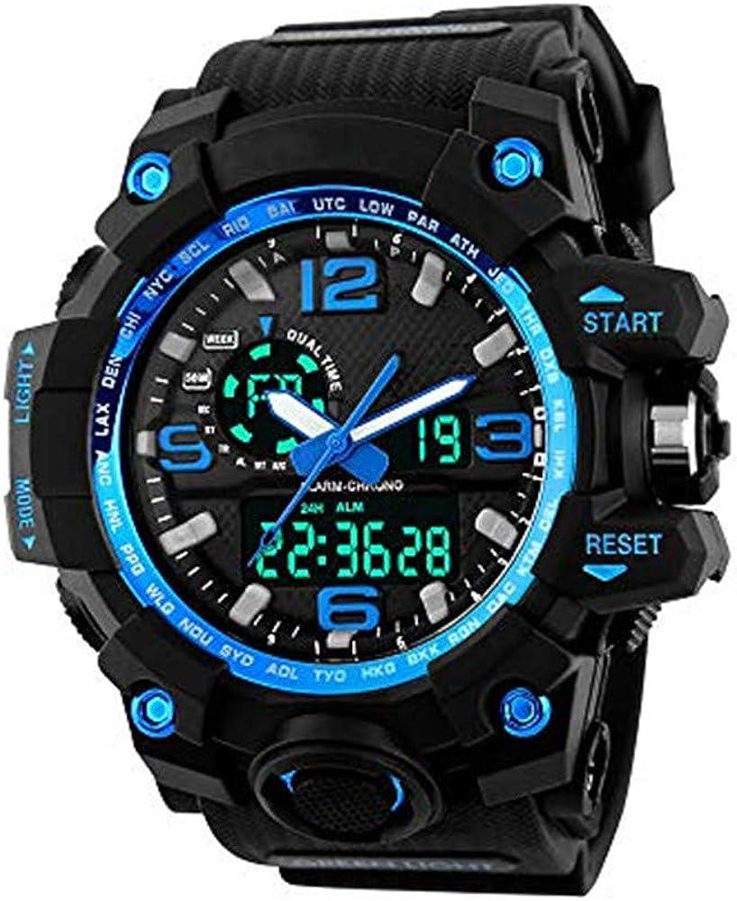 XFCS Men s Large Dial Digital Watch Waterproof Military Sport Watches for Men