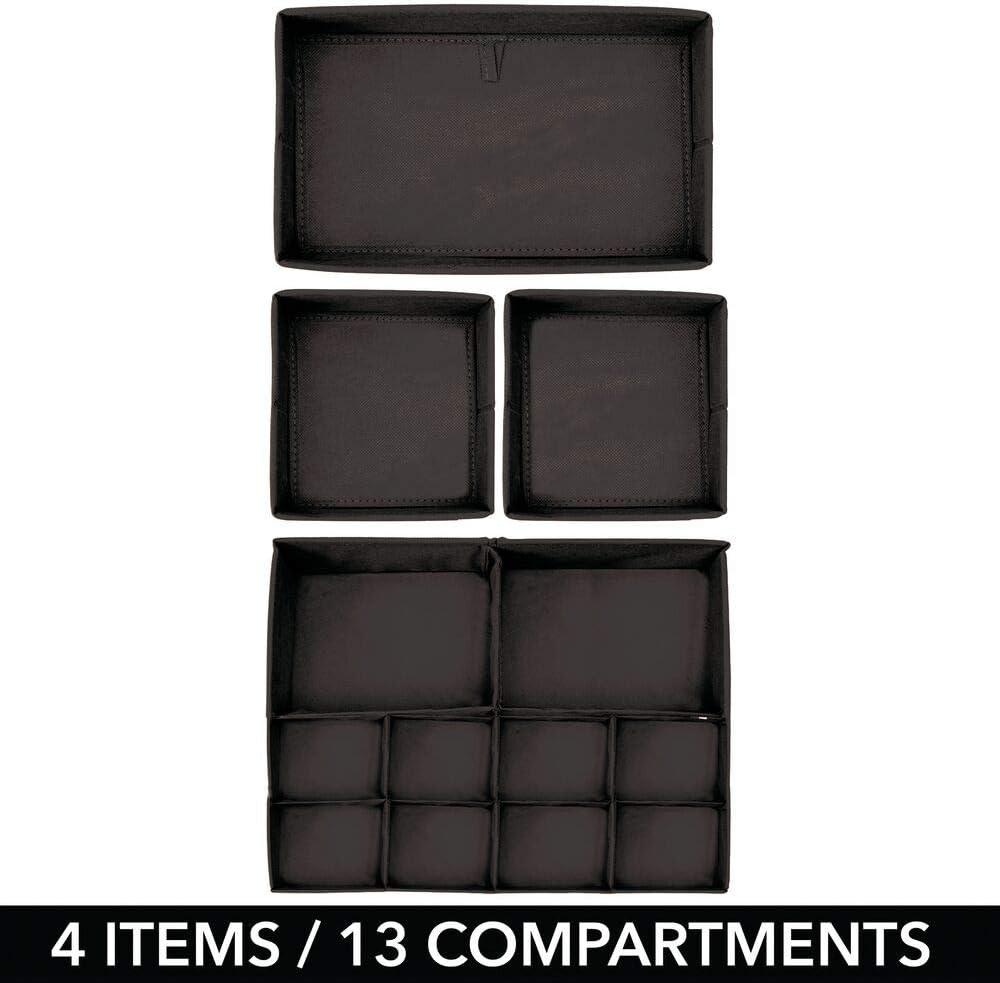 grau auch als Kinderschrank Organizer oder f/ür Schubladen Stoff Aufbewahrungsboxen f/ür Babysachen mDesign 4er-Set Kinderzimmer Aufbewahrungsbox aus Polypropylen