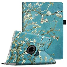 """Fintie iPad 9.7 inch 2018 / 2017 / iPad Air Case - 360 Degree Rotating Stand Protective Cover with Auto Sleep Wake for Apple iPad 9.7"""" (6th Gen, 5th Gen) / iPad Air 2013 Model, Blossom"""