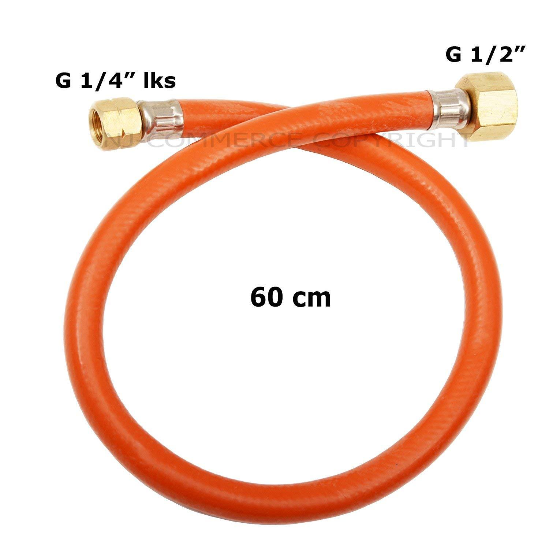 """Gasschlauch Propan Zoll 1//2/"""" R x 1//4/"""" lks Übergang 60cm Butan"""
