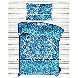 Star Mandala Duvet Cover Cotton Handmade Twin Size Single Bedding Set Comforter, Blanket,Quilt ,Doona Cover With Pillow Case Indian Art Bohemian Bedspread Mandala Bedding Set By Handicraftspalace