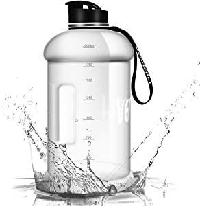 VENNERLI Half Gallon Water Bottle 2.2L Large Sports Water Jug with Handle 74 oz BPA-free Reusable Leakproof Hydro Bottle for Gym Yoga Travel Camping Cycling Outdoor Sports