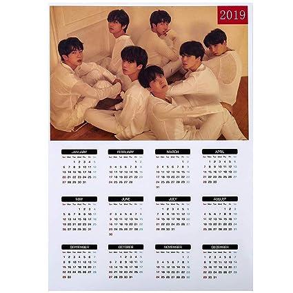 Amazon com : Bosunshine Kpop BTS 2019 Bangtan Boys Wall Calendar