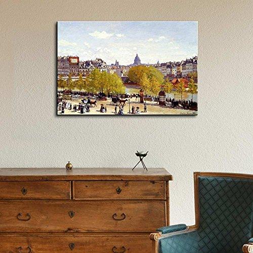 Quai du Louvre 1867 by Claude Monet Impressionist Art