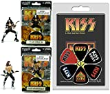 "KISS Ready to Rock Action Figures & Rock & Roll Guitar Picks Kiss Army & Logo Set - The Demon & The Starchild 4.5"" collectibles"