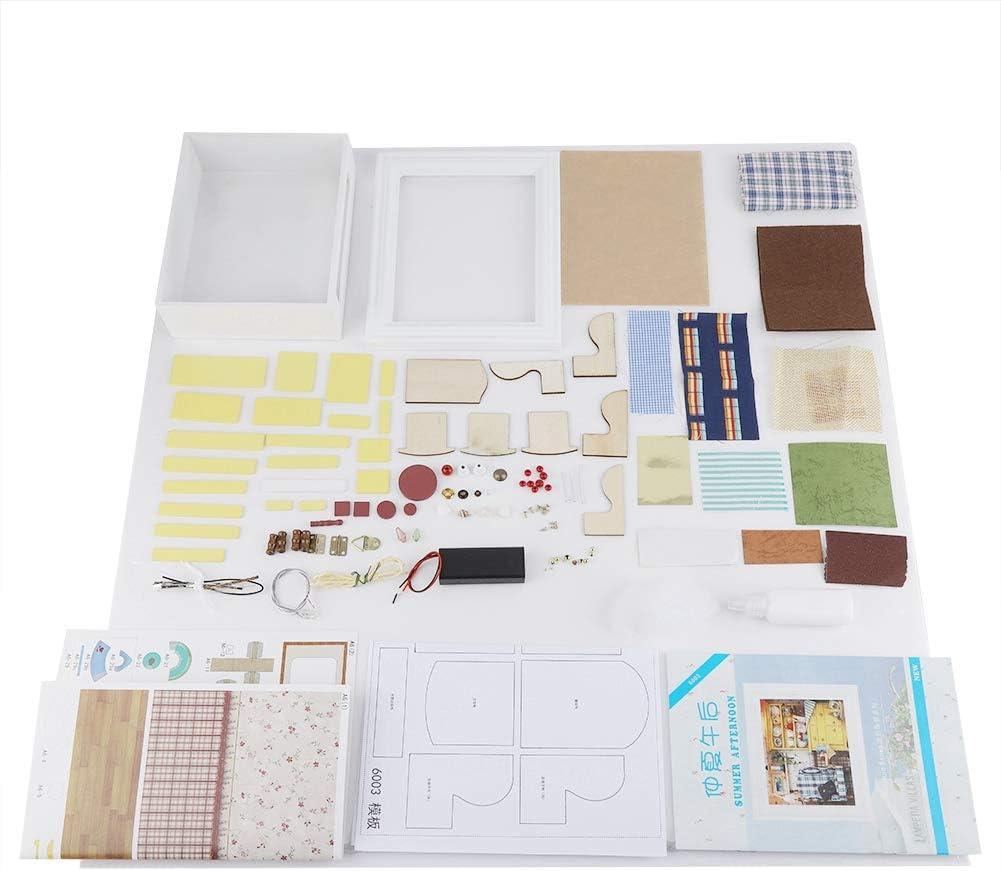 DIY Dollhouse cigemay DIY Doll House Elegant Birthday Gift for Children Friends for Kids Dollhouse Kit Kit