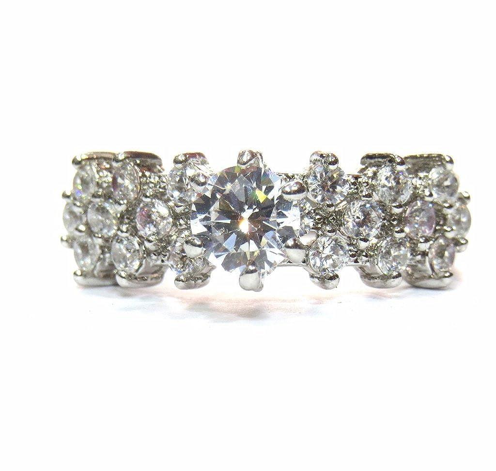 0d3a09da8fcf jewelshingar joyas chapado en solitario anillo American Diamante para  mujeres (22934-ring)  Amazon.es  Joyería