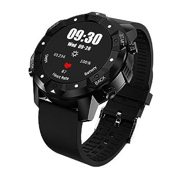 OOLIFENG GPS Relojes inteligentes Monitores actividad Pulsómetros IP67 Impermeable Brújula Pronóstico del tiempo Deportes Reloj, Black: Amazon.es: Deportes ...