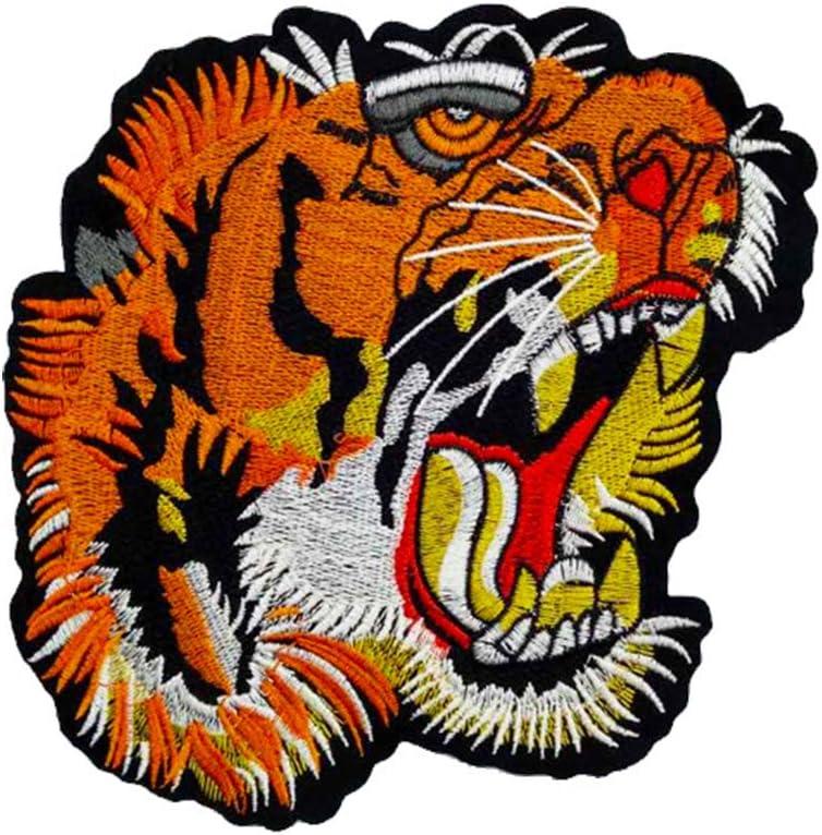 Hosaire 1X Pegatina de Tela Cabeza de Tigre de Color Paño de Tela ...