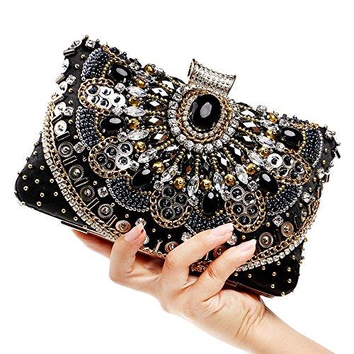 à à Dames Clubs Bandoulière Sac Diamante Soirée Main Sac Prom Black Mariage Pochette Cadeau Main Nuptiale Pour Femmes Sequin Sac Glitter Crystal à qw6ORyE4