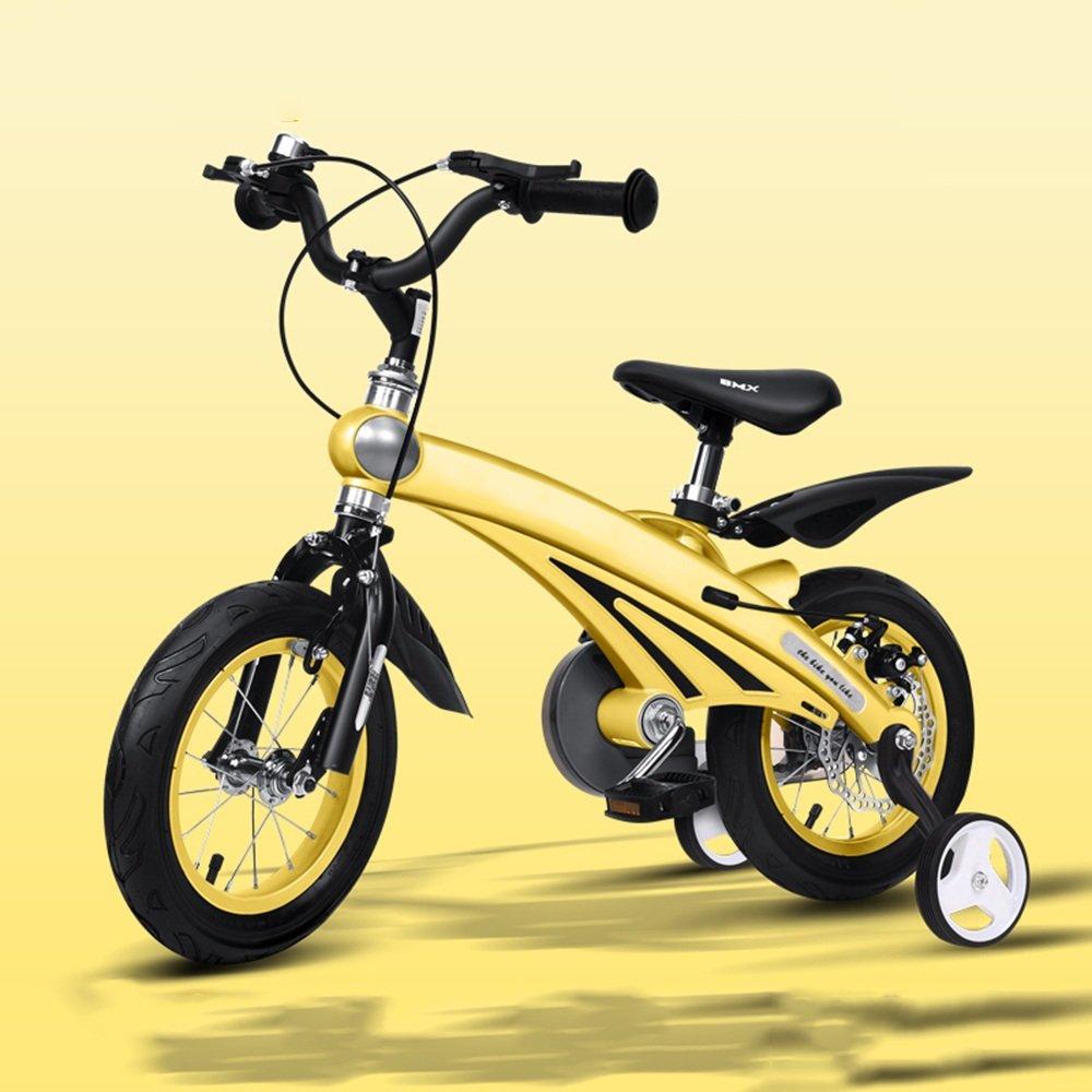 YANGFEI 子ども用自転車 子供用自転車210歳のベビーカー12/14/16インチキッズバイク 212歳 B07DWR5178 14 inch|イエロー いえろ゜ イエロー いえろ゜ 14 inch