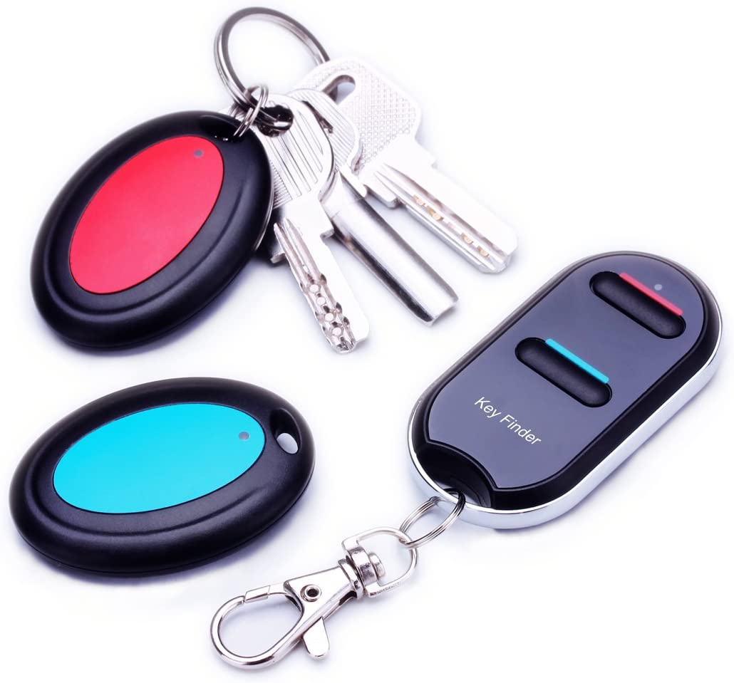 Key Finder,Vodeson Remote Control Finder, Easy to Use Suitable for The Elderly Key Locator Device,Whistle Phone Keychain Finder,Item Tracker,1 RF Transmitter and 2 Receivers