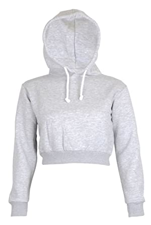 e2c86d0b8005e1 Womens Plain Crop Top Hoodies at Amazon Women s Clothing store