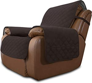 Easy-Going Sofa Slipcover Waterproof Oversized Recliner Chair Cover Non-Slip Fabric Couch Cover for Living Room Washable Furniture Protector for Pets Kids Children (Oversized Recliner, Chocolate)