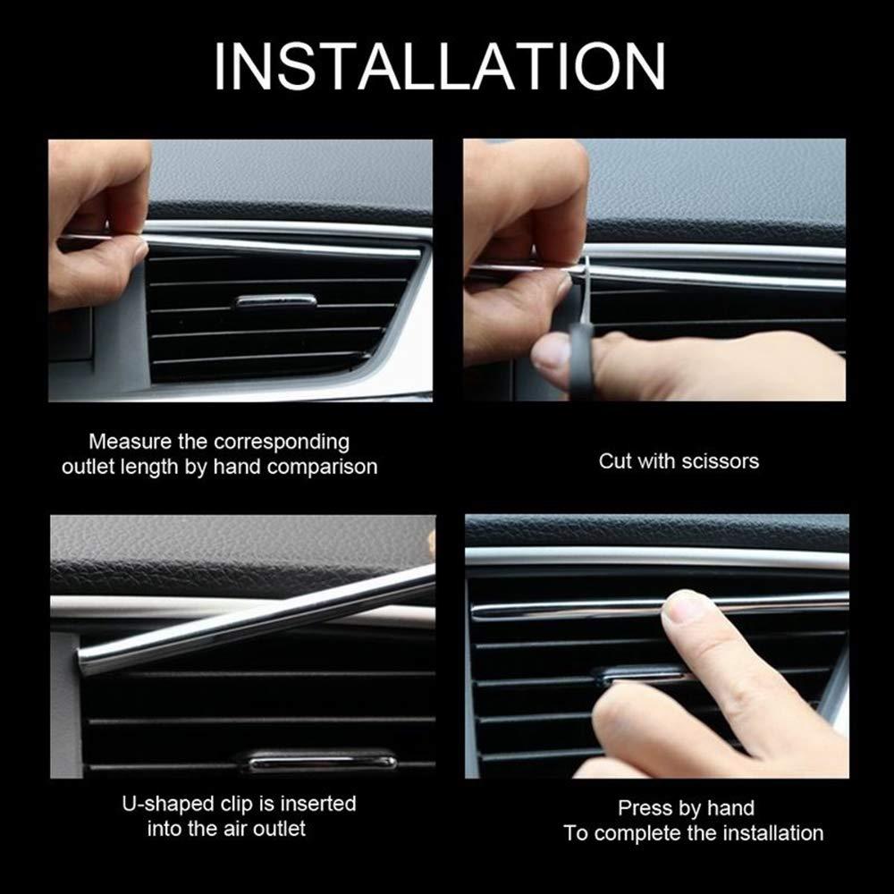 10Pcs New Protective DIY Molding Trim Air Conditioner Grille Decoration Car Outlet Vent Strip U Shape