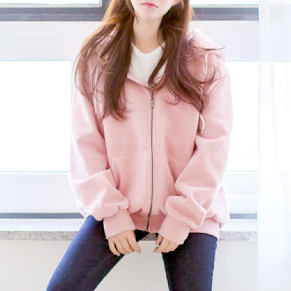 Amazon.com: AOJIAN Women Jacket Long Sleeve Outwear Hooded Solid Pockets Zipper Casual Pullover Coat: Clothing