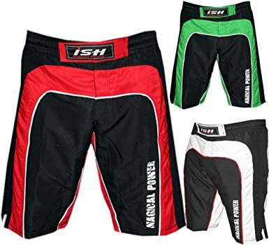 MMA Grappling Shorts Cage Fighter UFC Kickboxing Short Muay Thai Red White Black