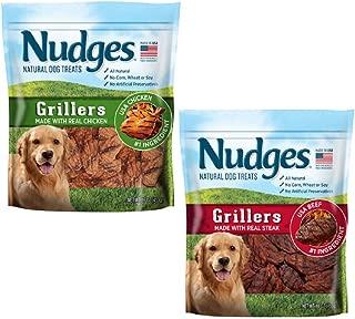 product image for Nudges Steak Grillers Dog Treats (2 Flavor GRILLERS Bundle)