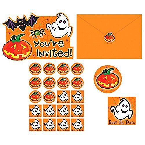 Amscan Family Friendly Halloween Scared Silly Invitations Party Favour, Paper -