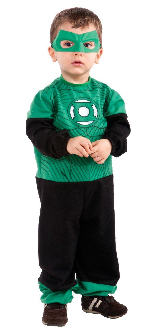 Green Lantern Hal Jordan Ez-On Romper Costume, Black/Green, Infant