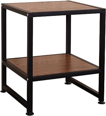 Side Sofa End Table Square Coffee Tea Stand Living Room Decor W/Bottom Shelf