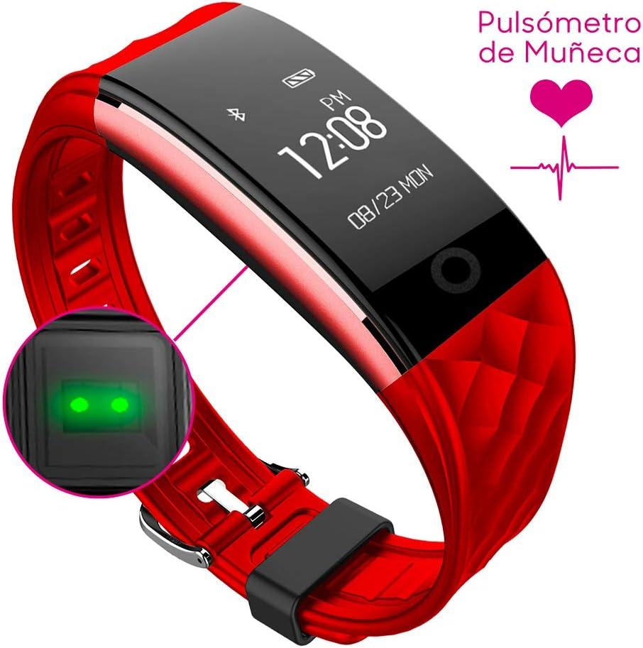 Woxter Smartfit 15 - Pulsera inteligente resistente al agua, protección IP67, bluetooth 4.0, acelerómetro de tres ejes y G-sensor, Monitorización del sueño y de ejercicios indoor y outdoor a través de