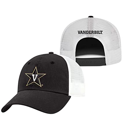 best service f7f53 89bcf Image Unavailable. Image not available for. Color  Top of the World  Vanderbilt Commodores Adult NCAA Team Spirit Relaxed Fit Meshback Hat ...