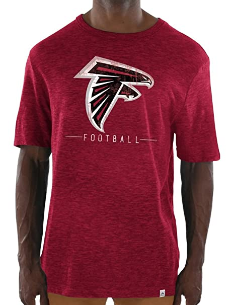 1a97a462 Image Unavailable. Image not available for. Color: Majestic Atlanta Falcons NFL  Hyper Stack Men's Premium Slub T-Shirt
