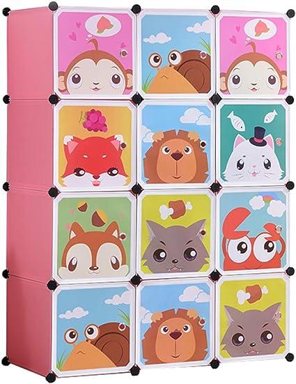8 Cubo e 2 Aree di Sospensione Blue Portatile Guardaroba Armadietto in Moduli Plastici ZXYSHOP Armadio Modulare Bambini