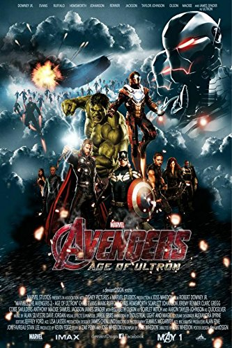 (Fit You New Marvel The Avengers 2 Age Of The Ultron Movie Art Canvas Poster Room Decor Iron Man Thor Captain America 07)