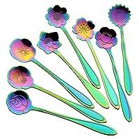 AnSaw 8 Pcs Flower Spoon Set, Deals