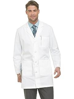 Landau Mens Four Button Lab Scrub Coat
