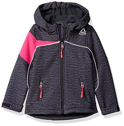 Reebok Girls' Active Outerwear Jacket,Softshell Printed/Pink Glow,6X (Soft Shell Winter Jacket)
