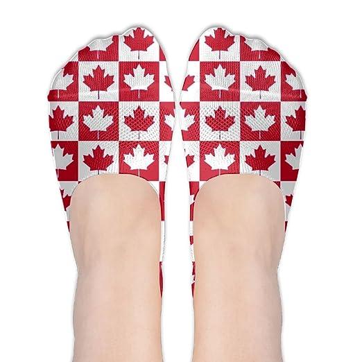 83fdcfddb4a401 Amazon.com  Canadian Canada CA Flag Maple Leaf Women No-Show Casual ...