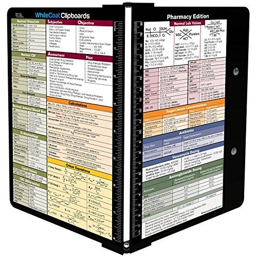 WhiteCoat Clipboard- Black - Pharmacy Edition by WhiteCoat Clipboard