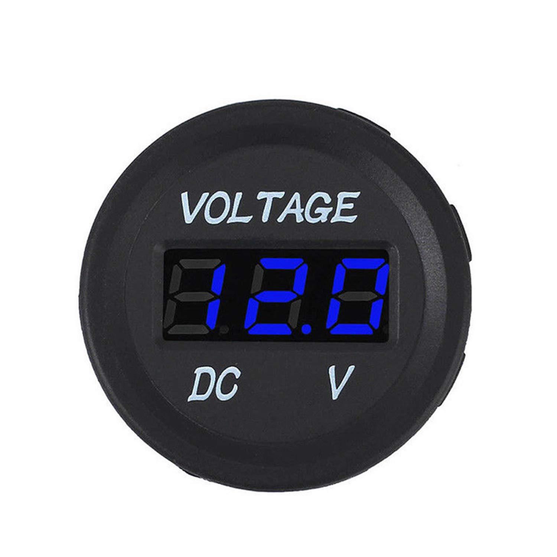 NCElec Digital Voltage Meter Waterproof Voltmeter for Car Motorcycle Boat Marine DC5-48V
