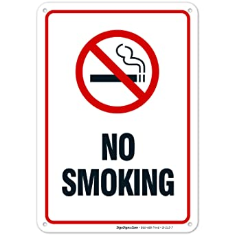 "Amazon.com: Cartel ""No Smoking"" de 10"" x ..."