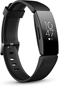 Fitbit Inspire HR, Pulsera de salud y actividad física con ritmo cardiaco, Negro