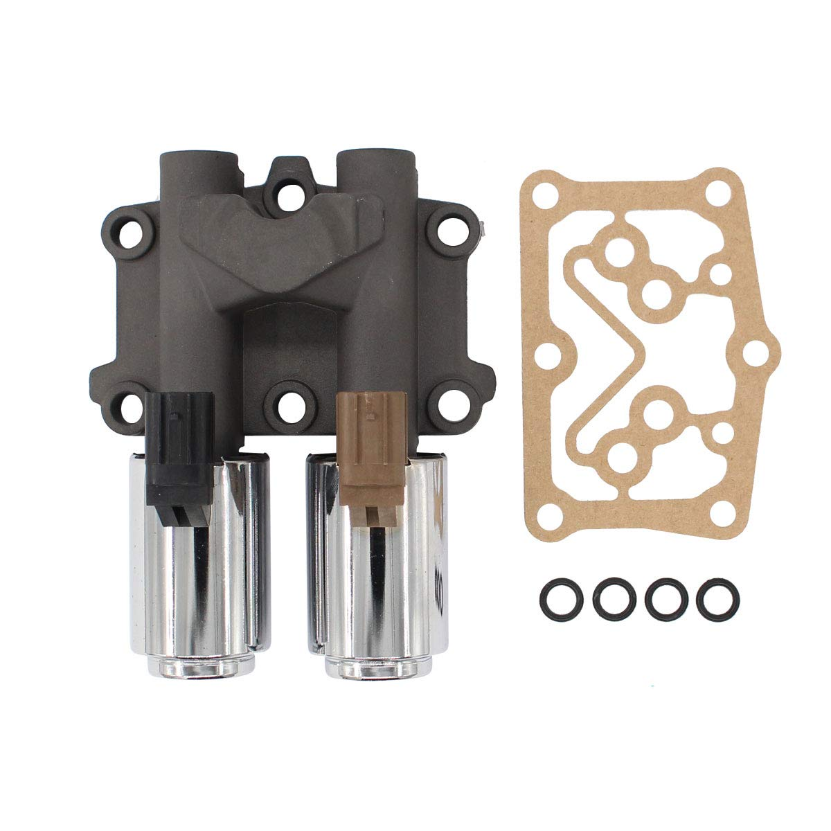 NewYall Transmission Dual Linear Solenoid w/Gasket & 4 O-Rings