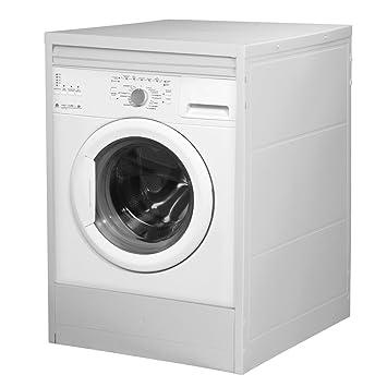 Divina Home - Mueble para lavadora con persiana, de resina, color blanco, apto para exterior - DH53439