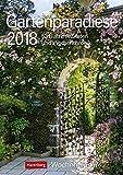 Gartenparadiese - Kalender 2018: Wochenplaner, 53 Blatt mit Zitaten und Wochenchronik