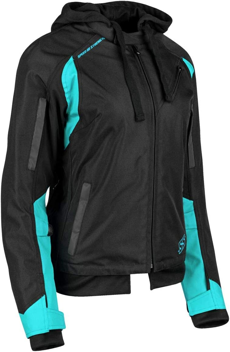 Speed /& Strength Womens Spell Bound Textile Jacket Medium Black//Black
