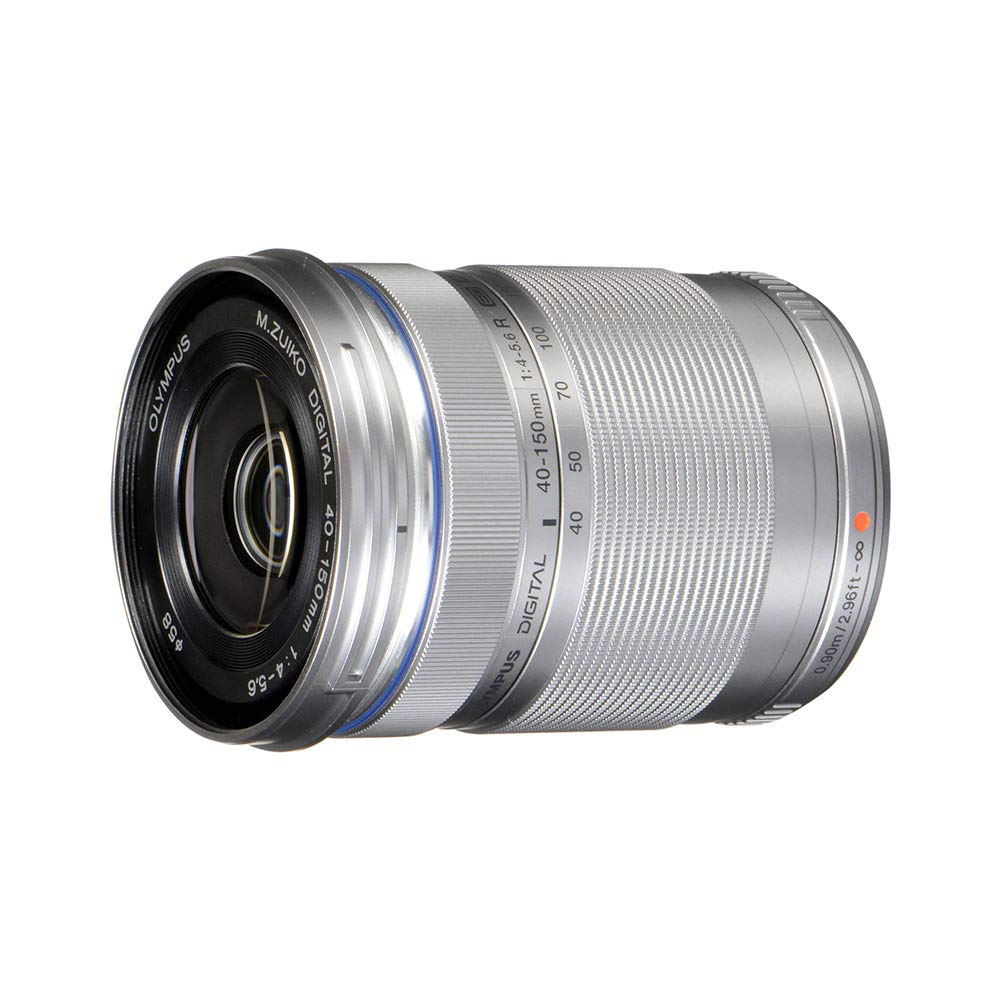 Olympus M.Zuiko Digital ED 40-150mm F4.0-5.6 R Zoom Lens, for Micro Four Thirds Cameras (Silver)