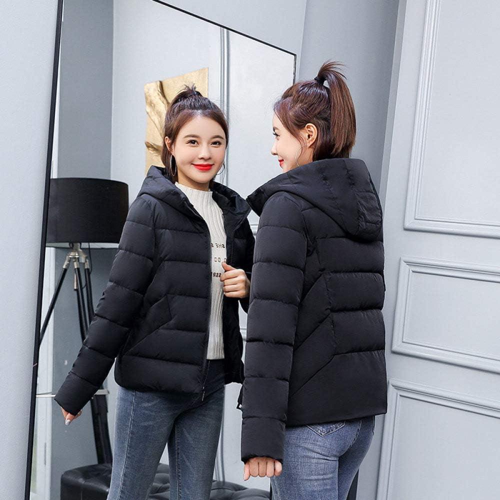 EIJFKNC Giacche Giù Giacche Invernali da Donna Warm Thicken Jaqueta Feminina Giacca da Donna Allentata in Stile Corto Invernale Nero