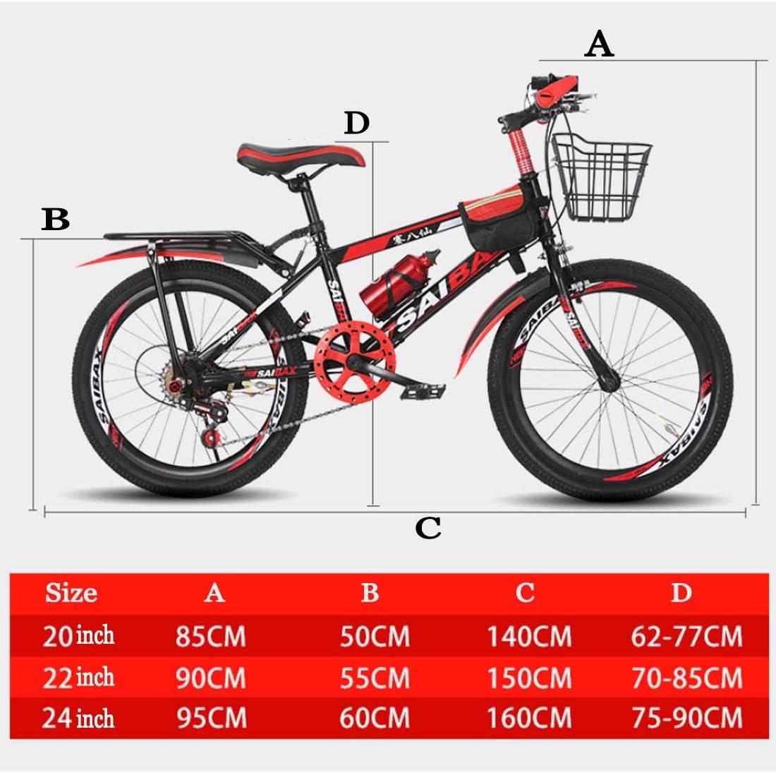 MYMGG Bicicleta Infantil para Niños Y Niñas A Partir De 8 Años Bici De Montaña 20,22,24 Pulgadas Mountainbike: Amazon.es: Deportes y aire libre