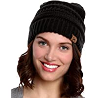 Tough Headwear Cable Knit Beanie - Thick, Soft & Warm Chunky Beanie Hats for Women & Men - Serious Beanies for Serious…