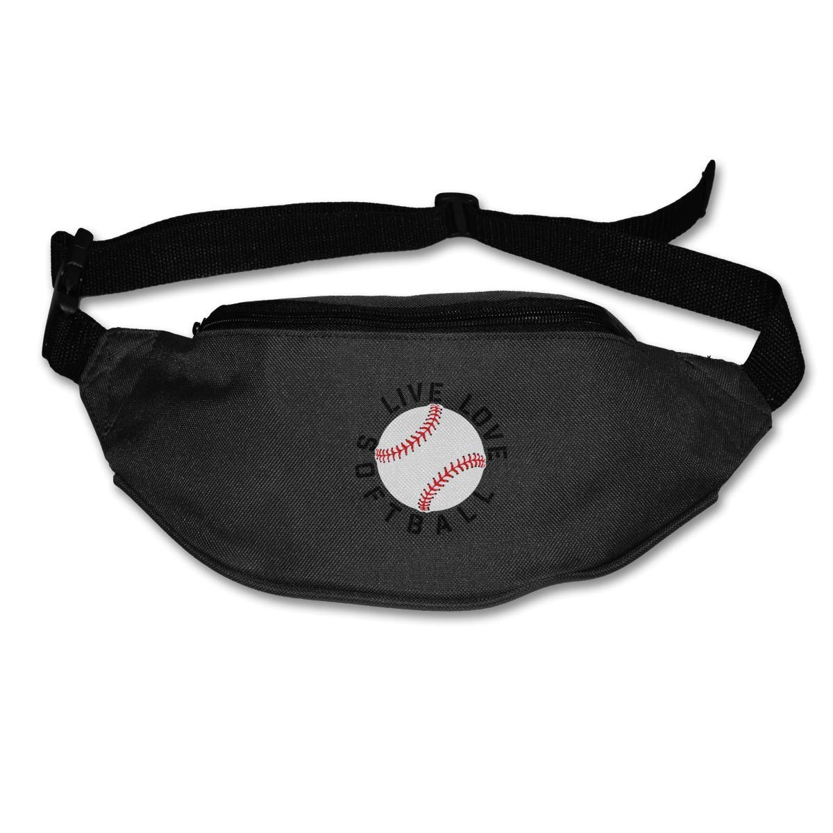 Live Love Softball Sport Waist Pack Fanny Pack Adjustable For Hike