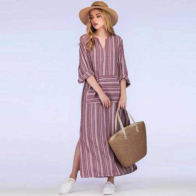 fd176de226 Vestido para Mujer,BBestseller Mujer Vestido Blusa de Solapa Casual para Mujer  Vestido Largo de